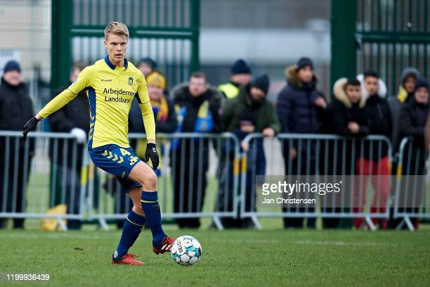 Sigurd Rosted of Brondby IF in action during the testmatch between Brondby IF and SonderjyskE at Brondby Stadion on February 10, 2020 in Brondby,...