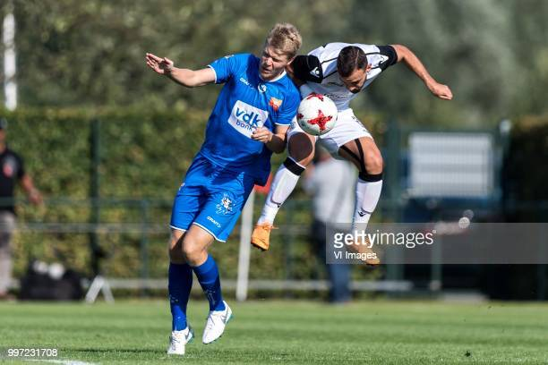 Sigurd Rosted of KAA Gent Giannis Mystakidis of Paok Saloniki during the friendly match between PAOK Saloniki and KAA Gent at sportcomplex...