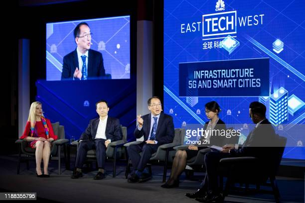 Sihan Bo Chen, Head of Greater China of GSMA, Hugh Chow, CEO of Astri, Henry Tang, Chief 5G Scientist of OPPO, Rebecca A.Fannin, Founder of Silicon...