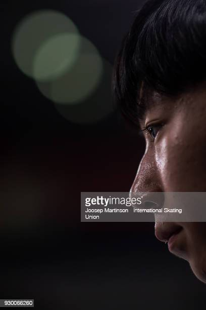Sihyeong Lee of Korea competes in the Junior Men's Free Skating during the World Junior Figure Skating Championships at Arena Armeec on March 10 2018...