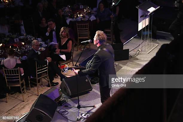 Siingersongwriter Josh Ritter perform onstage during the Christopher Dana Reeve Foundation hosts A Magical Evening at Cipriani Wall Street on...