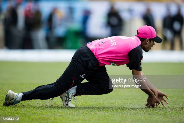 Sik Andar of Hung Hom JD Jaguars in action during the Hong Kong T20 Blitz match between Hung Hom JD Jaguars and Galaxy Gladiators Lantau at Tin Kwong...