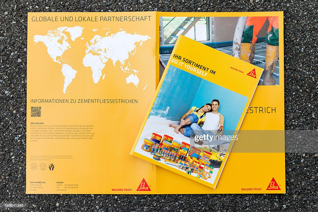 A Sika AG product information catalogue sits in this