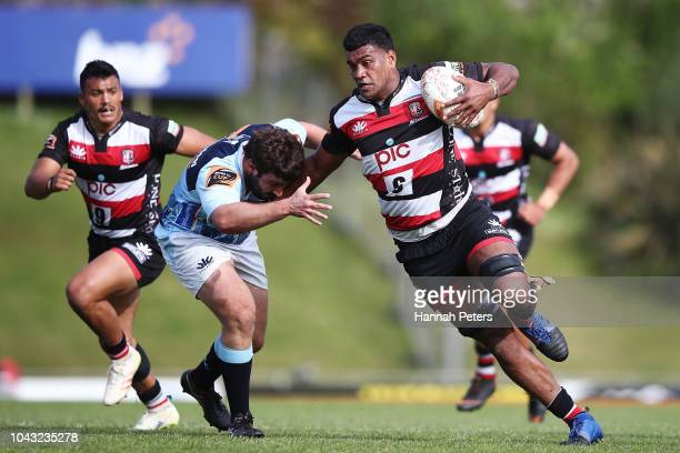 Sikeli Nabou of Counties Manukau makes a break during the round seven Mitre 10 Cup match between Counties Manakau and Northland at Navigation Homes...