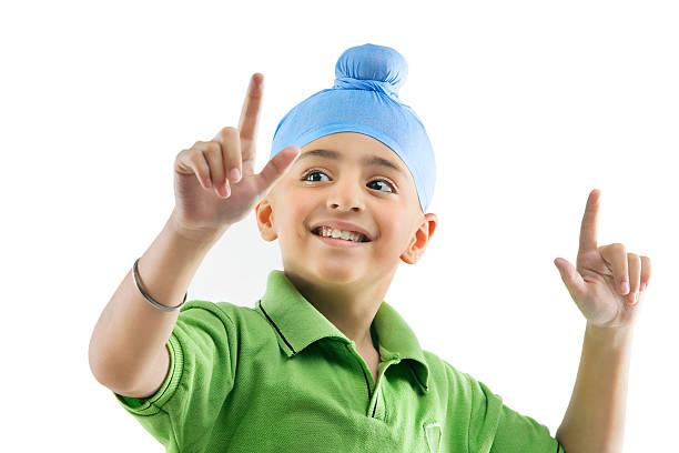 A Sikh boy dancing