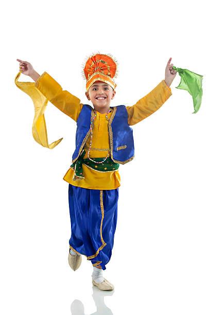 Sikh boy dancing