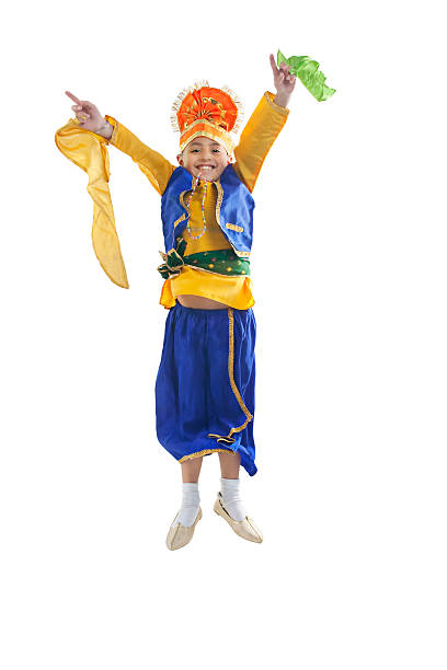 Sikh boy jumping in the air