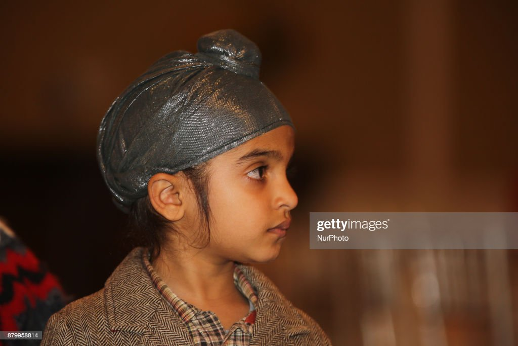 Sikh boy watches a traditional dance during the Diwali Gala Celebration held in Mississauga Ontario Canada on 25 November 2017 This luxurious gala...