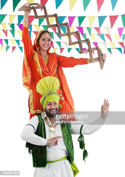 Sikh couple enjoying themselves
