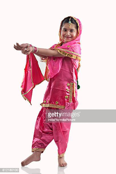 sikh girl dancing - tradition stock pictures, royalty-free photos & images