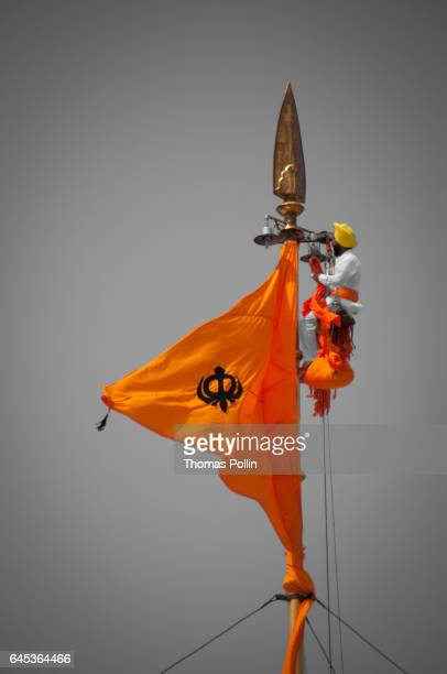 Sikh Flag Stock Photos And Pictures Getty Images