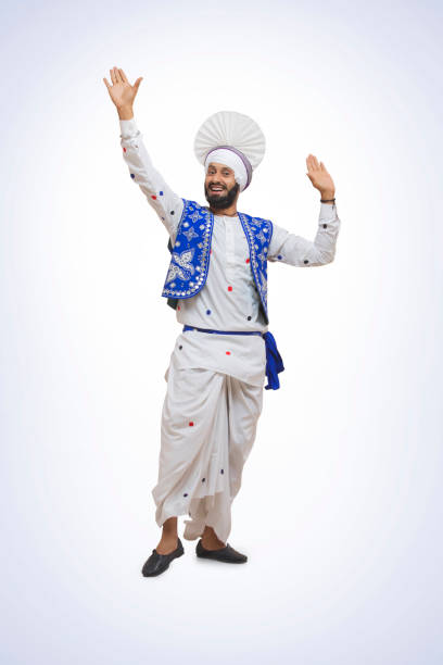 Sikh Man Doing Bhangra Dance