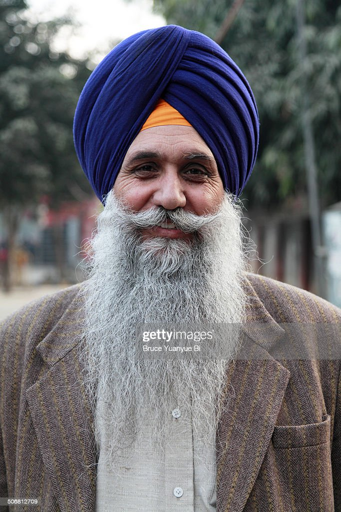 a sikh man with turban stock photo