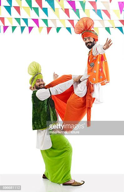 Sikh men having fun