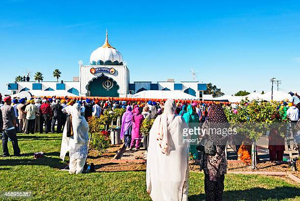 sikh temple festival - sikh stock pictures, royalty-free photos & images