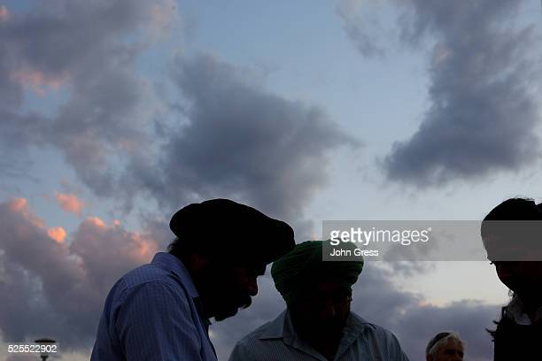 Sikhs prepare for vigil in Oak Creek Wisconsin on August 7 2012 A gunman killed six people and critically wounded three at a Sikh temple in an attack...