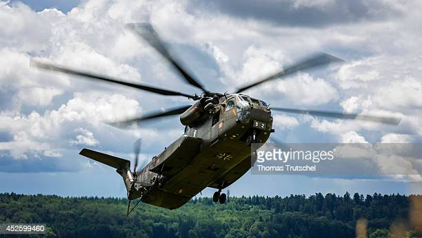 Sikorsky CH53 Sea Stallion heavylift transport helicopter of the German Federal Armed Forces on July 14 in Calw Germany The CH53 Sea Stallion is the...