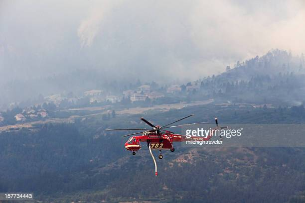 Sikorsky helicopter over Colorado Springs fire