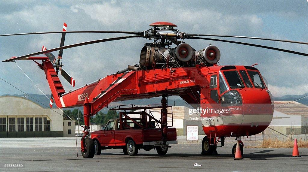 A sikorsky s64 skycrane helicopter parked at van nuys airport is a sikorsky s64 skycrane helicopter parked at van nuys airport is one yelopaper Images