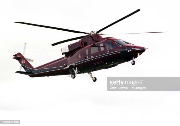 A Sikorsky S76 helicopter carrying the Queen and the Duke of Edinburgh arrives in Portsmouth this morning The royal couple flew from Windsor Castle...