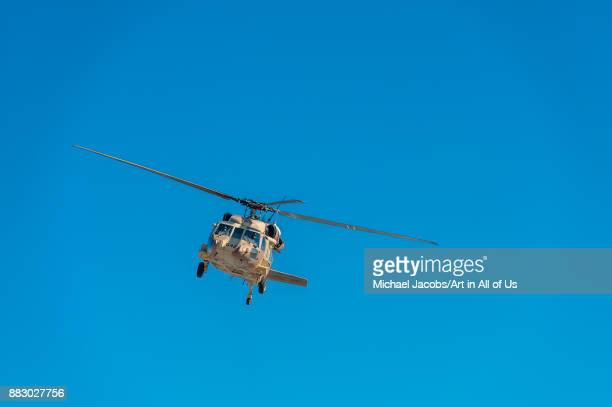 Sikorsky UH60 Black Hawk helicopter from the Israeli Air Force IDF at Sde Dov airport