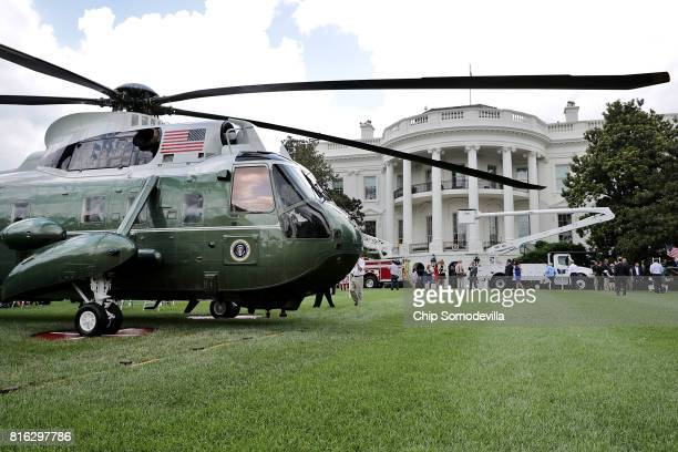 Sikorsky VH3D Sea King one of the helicopters used by Marine Corps Helicopter Squadron One to transport the President of the United States is part of...