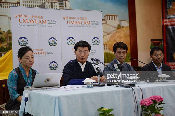Sikyong Lobsang Sangay the prime minister and Dicki Chhoyang the Minister of Department of Information and International Relations of the Central...