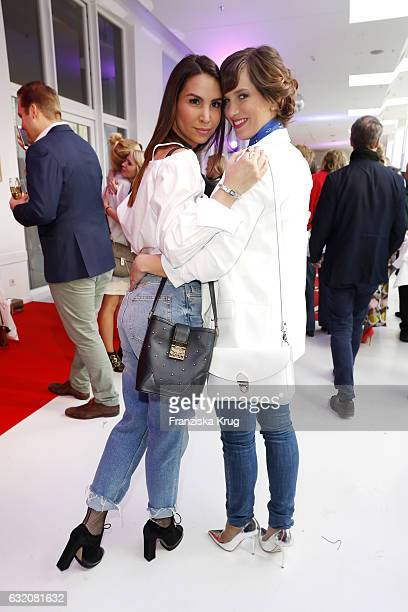 Sila Sahin and Isabell Horn attends the 'Gala' fashion brunch during the MercedesBenz Fashion Week Berlin A/W 2017 at Ellington Hotel on January 19...