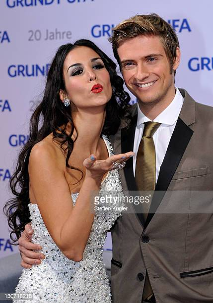 Sila Sahin and Joern Schloenvoigt arrive for the 20 years GrundyUFA anniversary gala on October 28 2011 in Berlin Germany