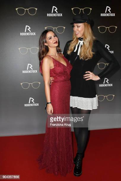 Sila Sahin and Sylvia Walker during the Rodenstock Eyewear Show on January 12 2018 in Munich Germany