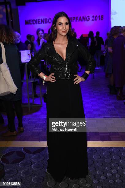Sila Sahin attends the Medienboard BerlinBrandenburg Reception during the 68th Berlinale International Film Festival Berlin at on February 17 2018 in...