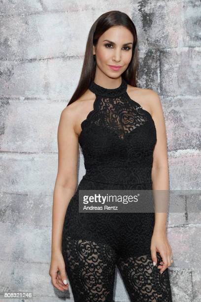 Sila Sahin attends the Riani Fashion Show Spring/Summer 2018 at Umspannwerk Kreuzberg on July 4, 2017 in Berlin, Germany.