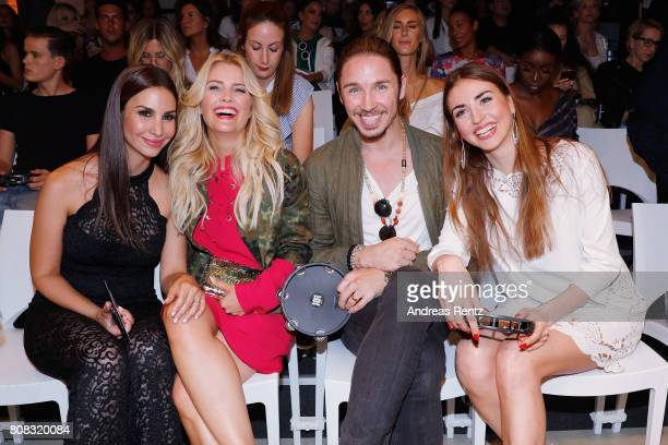 Sila Sahin, Jennifer Knaeble, Gil Ofarim and Ekaterina Leonova attend the Riani Fashion Show Spring/Summer 2018 at Umspannwerk Kreuzberg on July 4,...