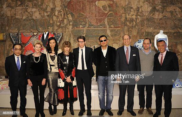 Silas Chou Emily Rafferty Wendi Murdoch Anna Wintour Andrew Bolton Wong Kar wai Mike Hearn Nathan Crowley and Joe Zee attend The Metropolitan Museum...