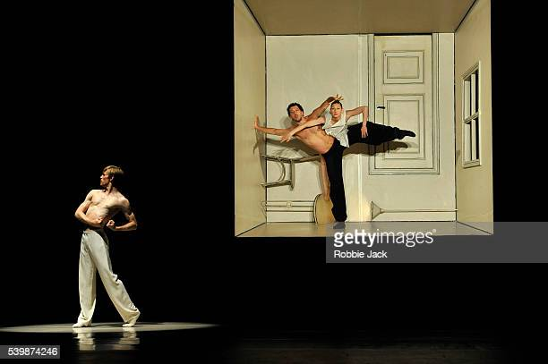Silas HenriksenMedhi Walerski and Parvaneh Scharafali in Nederland Dans Theatre's production of Sol Leon and Paul Lightfoot's Sehnsucht at Sadler's...
