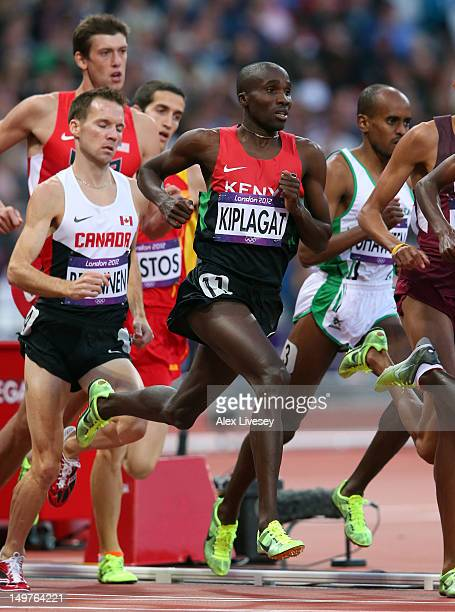Silas Kiplagat of Kenya competes in the Men's 1500m Round 1 Heats on Day 7 of the London 2012 Olympic Games at Olympic Stadium on August 3, 2012 in...