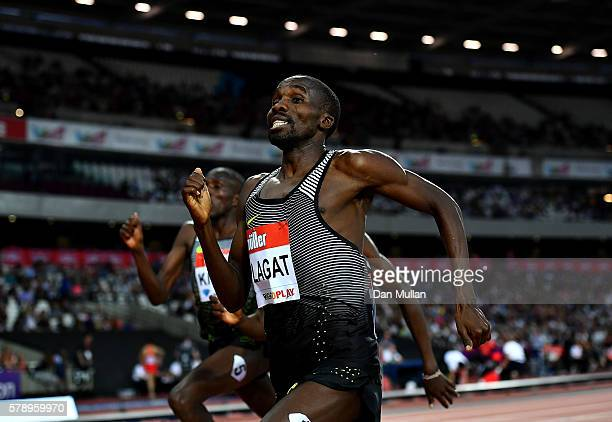Silas Kiplagat of Kenya in action during the Emsley Caar Mile on Day One of the Muller Anniversary Games at The Stadium - Queen Elizabeth Olympic...