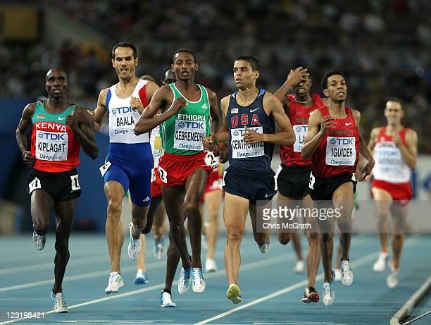 Silas Kiplagat of Kenya, Mehdi Baala of France, Mekonnen Gebremedhin of Ethiopia, Amine Laalou of Morocco, Matthew Centrowitz of United States and...