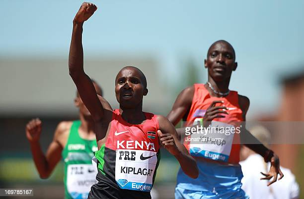 Silas Kiplagat of Kenya wins the Bowerman Mile during day 2 of the IAAF Diamond League Prefontaine Classic on June 1, 2013 at the Hayward Field in...