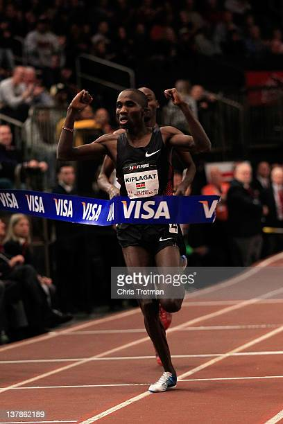 Silas Kiplagat of Kenya wins the Men's 1 Mile Run at the US Open Track and Field event at Madison Square Garden on January 28, 2012 in New York City.
