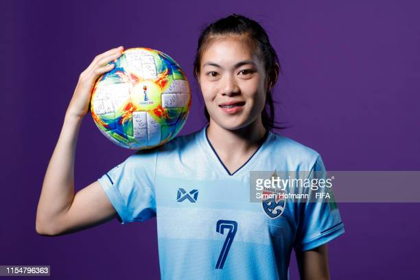 Silawan Intamee of Thailand poses for a portrait during the official FIFA Women's World Cup 2019 portrait session at Grand Hotel Continental on June...
