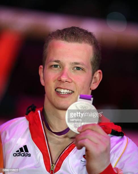 Silber für Fabian Hambüchen Hambuechen am Reck Olympische Sommerspiele 2012 London Turnen Männer Reck Finale North Greenwich Arena Olympic Summer...