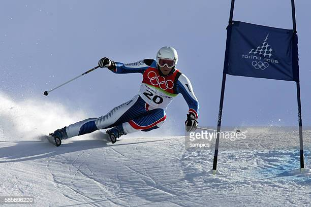 Silber fr Joel Chendal FRA Riesenslalom der Herren giant slalom men 20 2 2006 olympische Winterspiele in Turin 2006 olympic winter games in torino...