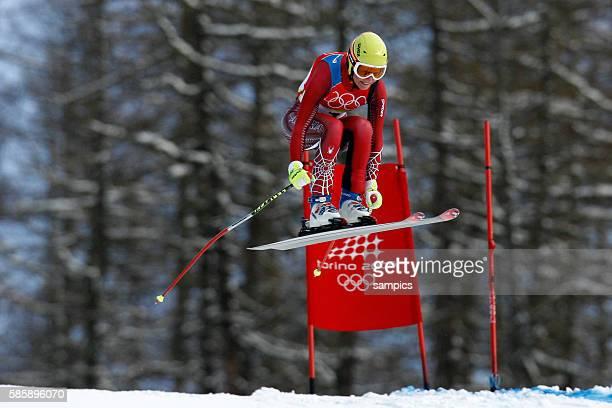 Silber fr Marlies Schild AUT Kombinations Abfahrt der damen am 18 2 2006 olympische Winterspiele in Turin 2006 olympic winter games in torino 2006