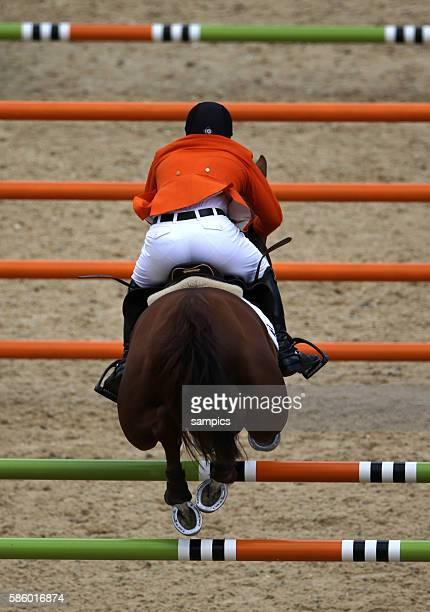 Silbermedaille für Gerco Schroeder Schröder miit LONDON Olympische Sommerspiele 2012 London Springreiten Einzel Greenwich Park Olympic Summer Games...