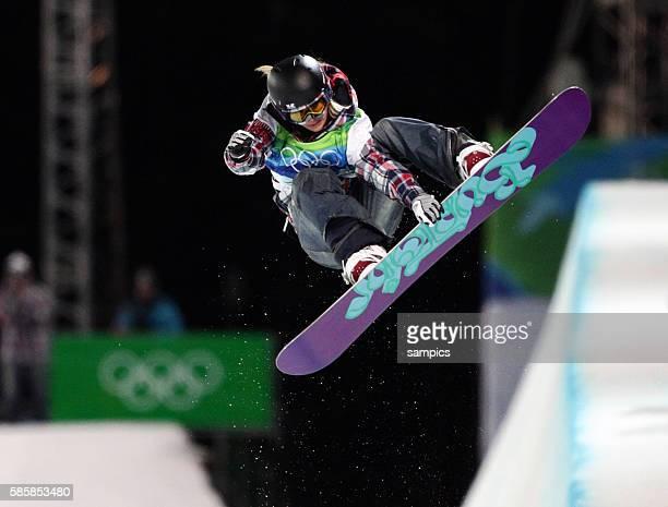 Silbermedaille fur Hannah Teter Olympische Winterspiele 2010 in Vancouver Snowboard Halfpipe Damen Olympic Winter Games 2010 Snowboard Halfpipe Ladies