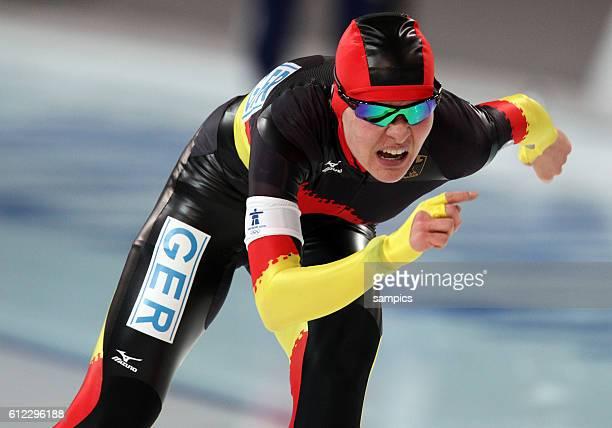 Silbermedaille fur Stephanie Beckert Olympische Winterspiele 2010 in Vancouver Eisschnelllauf Damen 5000m Richmond Olympic Hall Olympic Winter Games...