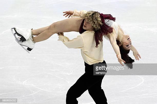 Silbermedaillengewinner Meryl Davis und Charlie White Olympische Winterspiele 2010 in Vancouver Eiskunstlauf Eistanz Kur Olympic Winter Games 2010...