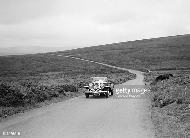Silcock's Jensen V8, winner of a bronze award at the MCC Torquay Rally, July 1937. Jensen V8 3622 cc. Vehicle Reg. No. EMD479. Event Entry No: 101...