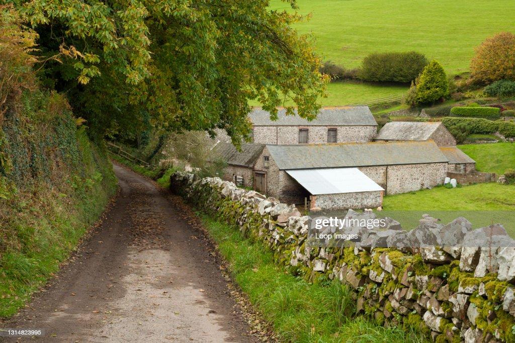 Silcombe Farm in early autumn in Exmoor National Park : News Photo